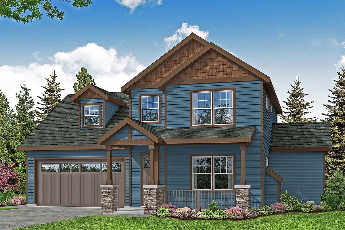 Country, Craftsman, Traditional House Plan 78405 with 4 Beds, 3 Baths, 2 Car Garage Elevation