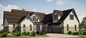 Tudor , Tuscan House Plan 78501 with 5 Beds, 6 Baths, 2 Car Garage Elevation