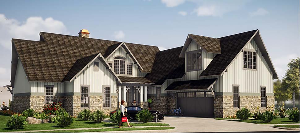Tudor Tuscan Elevation of Plan 78501