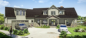 Farmhouse , Traditional House Plan 78502 with 5 Beds, 6 Baths, 2 Car Garage Elevation