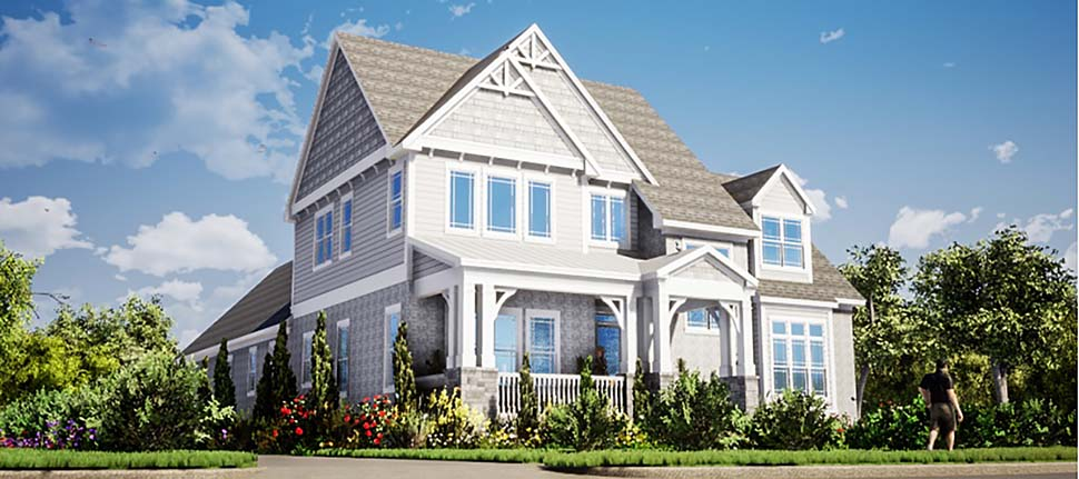 Farmhouse Traditional Elevation of Plan 78505