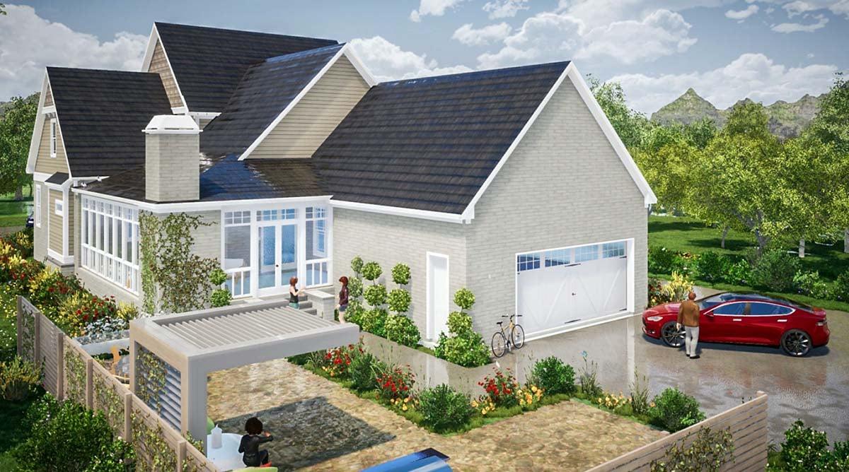 Farmhouse Traditional Rear Elevation of Plan 78505