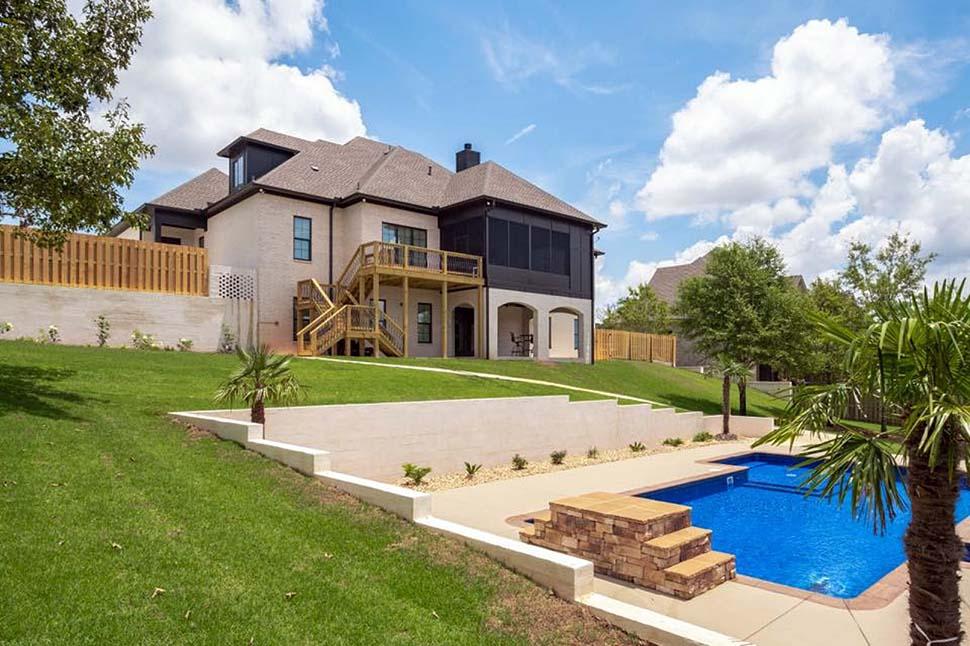 European, Florida, Mediterranean House Plan 78506 with 5 Beds, 5 Baths, 4 Car Garage Picture 3