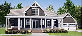 Traditional , Farmhouse , Craftsman , Country , Bungalow House Plan 78507 with 3 Beds, 3 Baths, 2 Car Garage Elevation