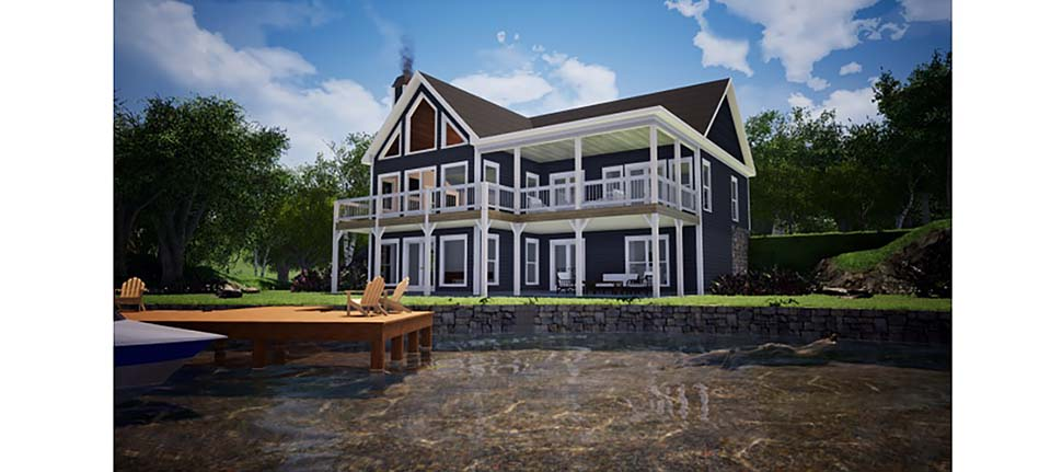 Bungalow, Coastal, Craftsman, Farmhouse, Traditional House Plan 78508 with 4 Beds, 3 Baths Elevation