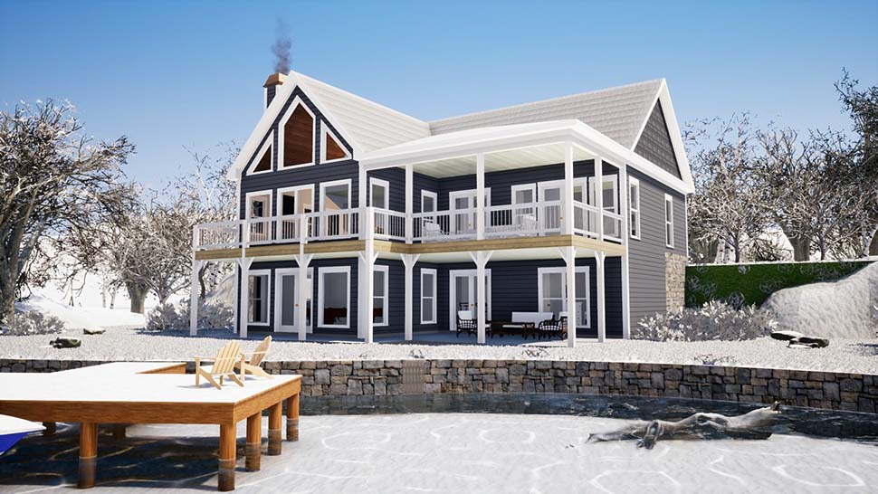 Bungalow, Coastal, Craftsman, Farmhouse, Traditional House Plan 78508 with 4 Beds, 3 Baths Picture 2