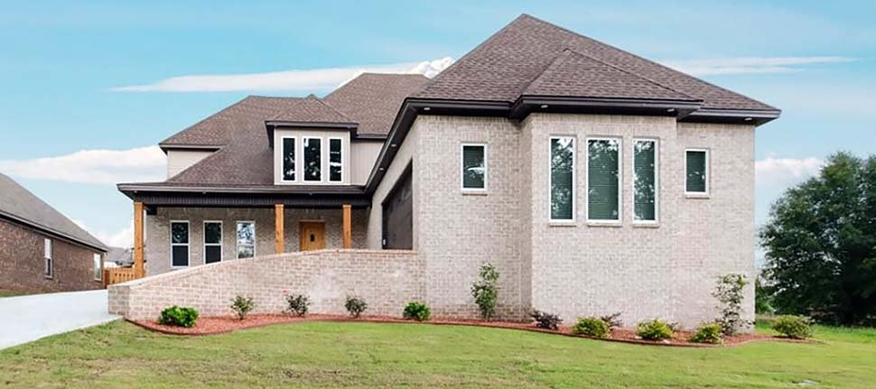 Contemporary, Traditional House Plan 78510 with 2 Beds, 3 Baths, 2 Car Garage Elevation