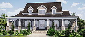 Traditional , Farmhouse , Country House Plan 78513 with 5 Beds, 4 Baths, 2 Car Garage Elevation