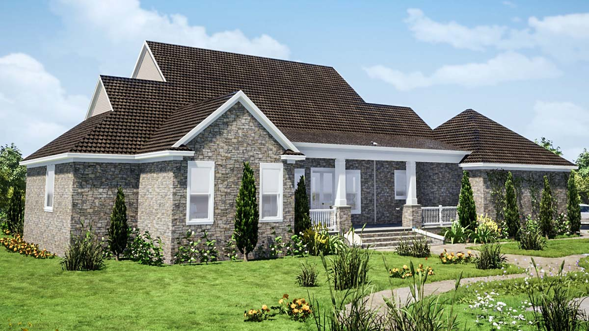 Country, Farmhouse, Traditional House Plan 78513 with 5 Beds, 4 Baths, 2 Car Garage Picture 1