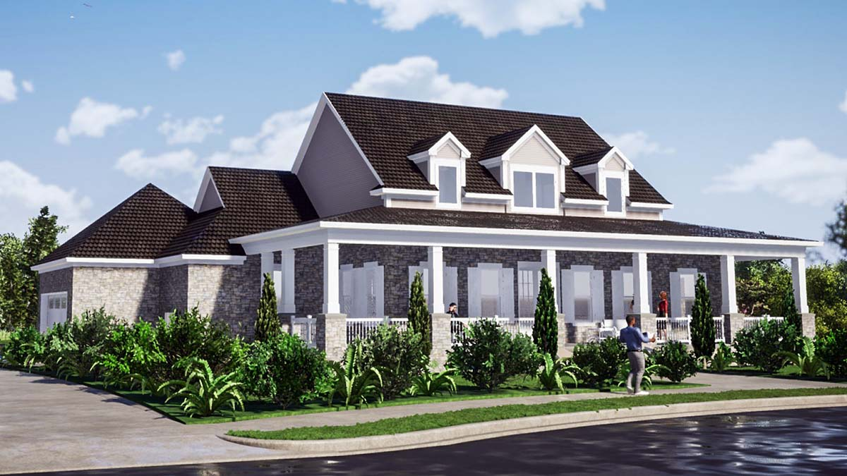 Country, Farmhouse, Traditional House Plan 78513 with 5 Beds, 4 Baths, 2 Car Garage Picture 2