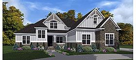 European , Craftsman , Bungalow House Plan 78514 with 4 Beds, 3 Baths, 2 Car Garage Elevation