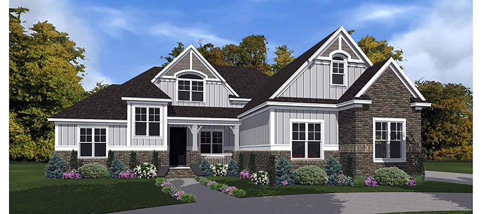 Bungalow, Craftsman, European House Plan 78514 with 4 Beds, 3 Baths, 2 Car Garage Elevation