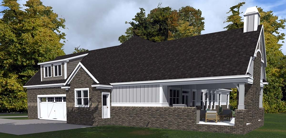 Bungalow, Craftsman, European House Plan 78514 with 4 Beds, 3 Baths, 2 Car Garage Picture 1