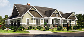 Traditional , Farmhouse House Plan 78515 with 3 Beds, 3 Baths, 3 Car Garage Elevation