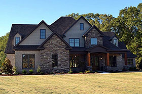 Bungalow , Craftsman , French Country , Traditional House Plan 78521 with 5 Beds, 4 Baths, 3 Car Garage Elevation