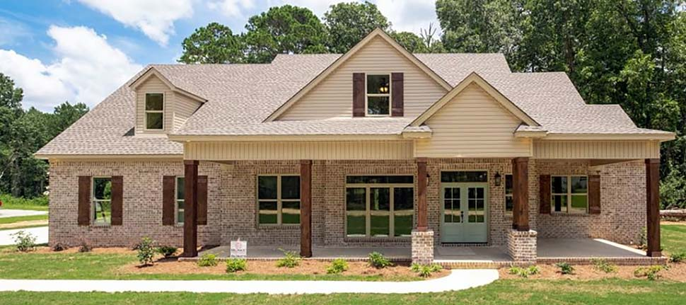 Bungalow, Country, Craftsman, Farmhouse, Traditional House Plan 78522 with 4 Beds, 3 Baths, 2 Car Garage Elevation
