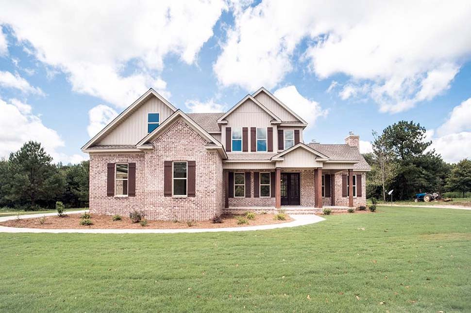 Farmhouse, Ranch, Traditional House Plan 78523 with 4 Beds, 3 Baths, 2 Car Garage Picture 1