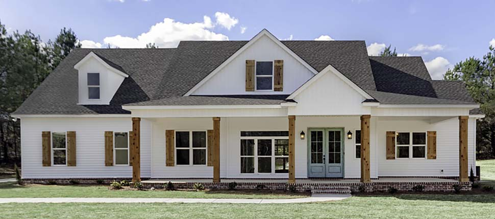 Bungalow , Country , Craftsman , Farmhouse , Traditional House Plan 78524 with 4 Beds, 3 Baths, 2 Car Garage Elevation
