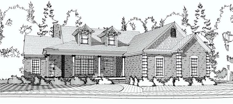 European Traditional House Plan 78600 Elevation