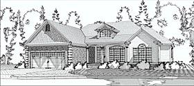 European Traditional House Plan 78601 Elevation