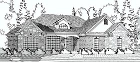 European Traditional House Plan 78603 Elevation