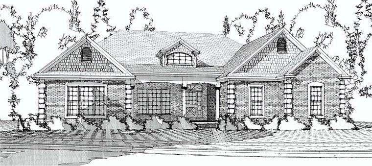 European House Plan 78604 Elevation