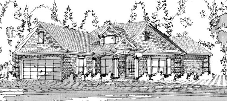 European Traditional House Plan 78608 Elevation