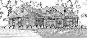 House Plan 78609 | European Traditional Style Plan with 1922 Sq Ft, 3 Bedrooms, 2 Bathrooms, 2 Car Garage Elevation