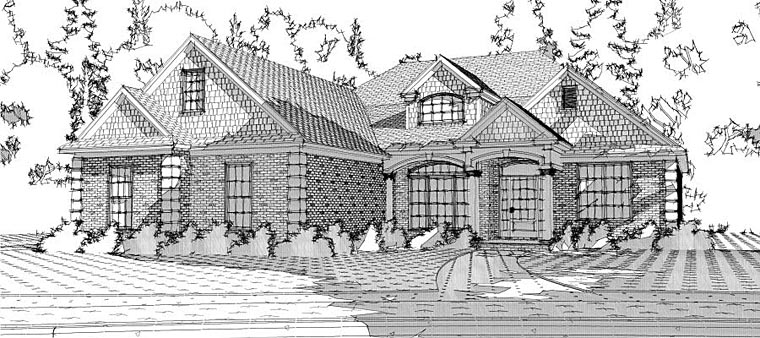 European Traditional House Plan 78609 Elevation
