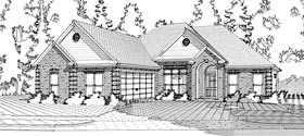 European Traditional House Plan 78615 Elevation