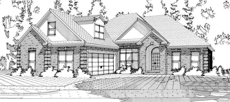 European Traditional House Plan 78616 Elevation