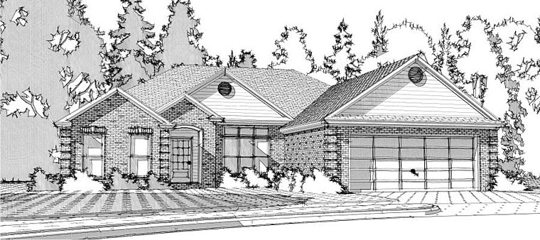 European Traditional House Plan 78617 Elevation