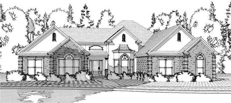 European House Plan 78618 Elevation