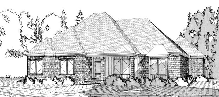 Contemporary European House Plan 78620 Elevation