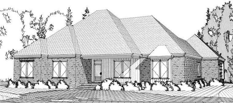 Contemporary European House Plan 78621 Elevation