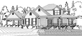 Country Farmhouse Traditional House Plan 78622 Elevation