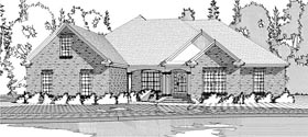 European Traditional House Plan 78623 Elevation