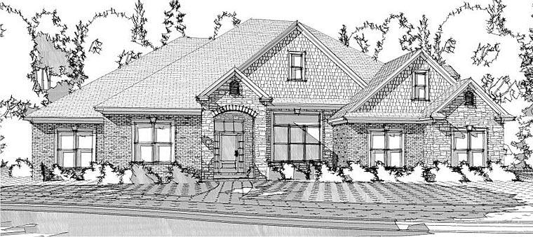 European Traditional House Plan 78627 Elevation