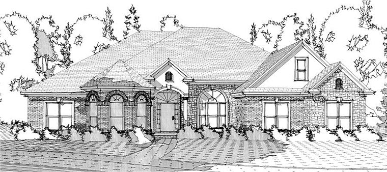 European Victorian House Plan 78628 Elevation