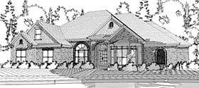 European House Plan 78629 Elevation