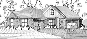 Traditional , European House Plan 78639 with 4 Beds, 3 Baths, 3 Car Garage Elevation