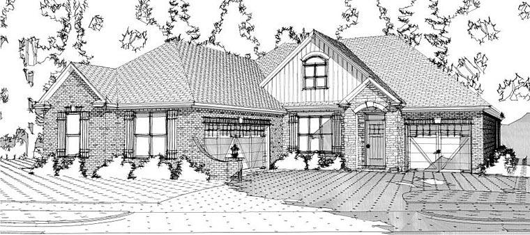 European Traditional House Plan 78639 Elevation
