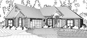European Traditional House Plan 78640 Elevation