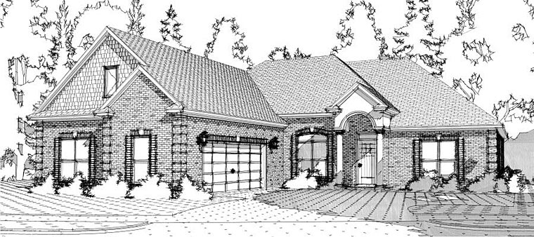 European Traditional House Plan 78641 Elevation