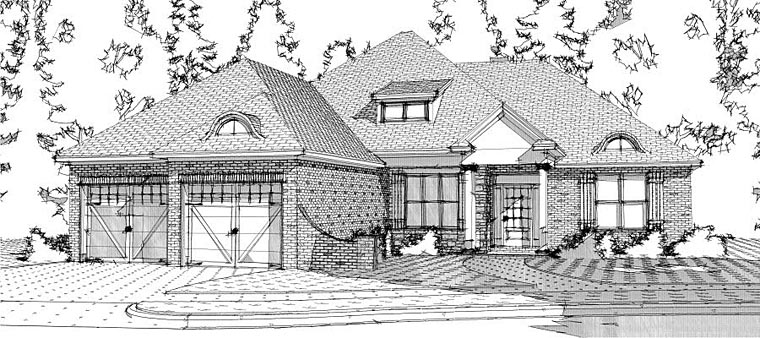 European House Plan 78642 Elevation