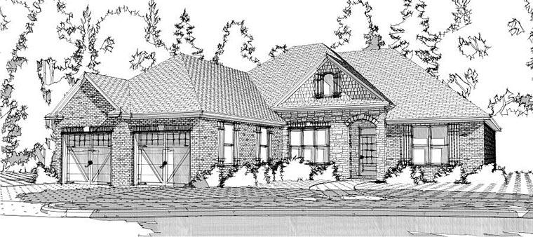 European House Plan 78643 Elevation