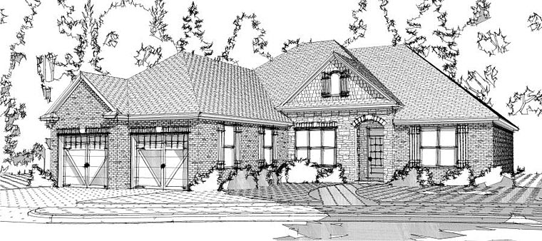 European House Plan 78644 Elevation