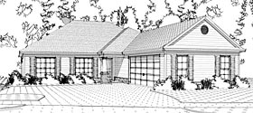 House Plan 78646 | Traditional Style Plan with 1850 Sq Ft, 3 Bedrooms, 2 Bathrooms, 2 Car Garage Elevation
