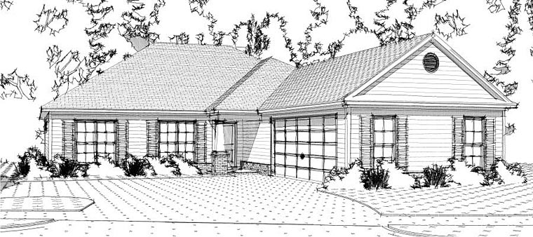 Traditional House Plan 78646 Elevation