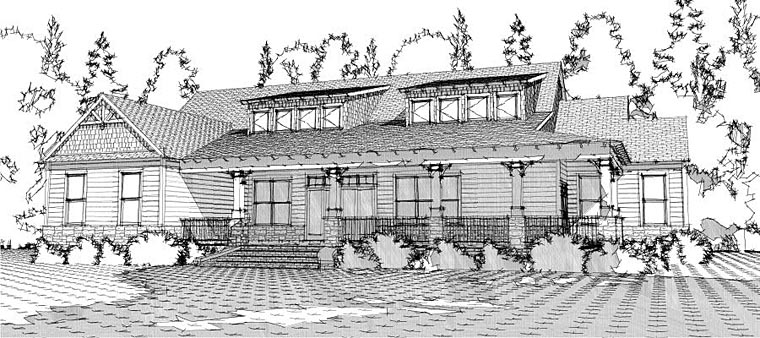 Cottage, Country, Craftsman House Plan 78648 with 4 Beds, 4 Baths, 2 Car Garage Elevation